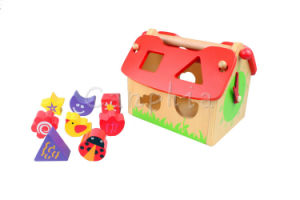 Wooden Toy Blocks Shape Sorter House pictures & photos