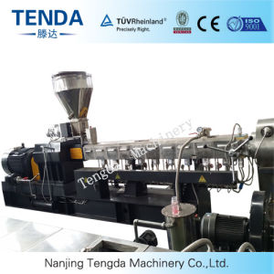 Tsh-65 130kw Conical Twin Screw Plastic Recycling Extruder pictures & photos