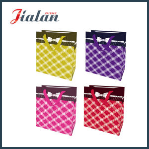 128g Matte Lamination Ribbon Bow Rope Retail Paper Gift Bag pictures & photos