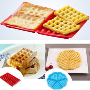 Nonstick Food Grade Rectangle Shape Silicone Mould Waffle Mould pictures & photos