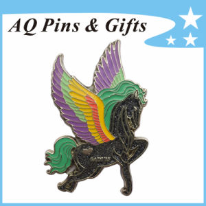 Hot Selling Horse Lapel Pin Badge with Glitter&Epoxy (badge-112) pictures & photos