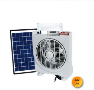 LED Solar Portable Rechargeable Fan with LED Light pictures & photos