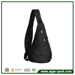 Simple Design Black PVC Single Sports Shoulder Backpack pictures & photos