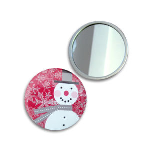 58mm Metal Promotion Gift for Lady Cosmetic Mirror Travel Mirror pictures & photos