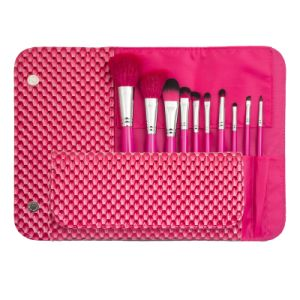 10PCS Nylon Hair Cosmetic Brush Set for Beauty Makeup pictures & photos