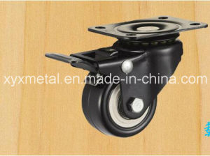 Medium Duty Caster Fixed Caster. Double Bearing Electroplate Black Frame, Mute Design. pictures & photos