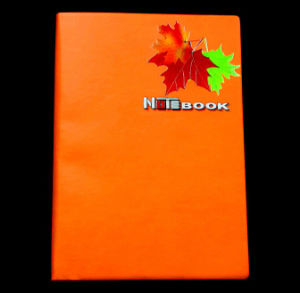 Maple Printing Leather Notebooks with Metal Logo (WH-006) pictures & photos