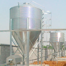 Galvanized Silo with Automatic Feeding Equipments pictures & photos
