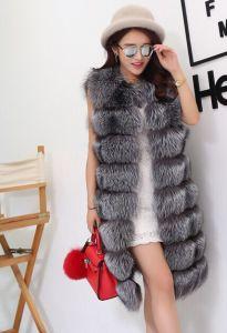 2015 Unique Design Fox Fur Waistcoat Winter Fur Vest pictures & photos