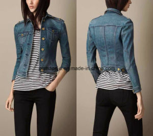 New Women Denim Jeans Coat Slim Outer Wear Outdoor Jacket pictures & photos