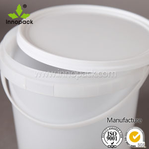 Clear Plastic Bucket Pail with Lid 5L pictures & photos