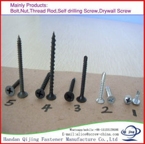 Drywall Screw High Strengh Fine Thread Carbon Steel Drywall Screw Piercing Point pictures & photos