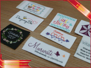 Nice Printing Garment Label Cotton Satin Printing Label pictures & photos