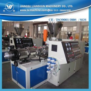 Conial Double Screw Plastic Extruder Making Machine pictures & photos