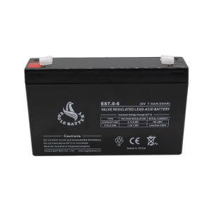 6V 7ah Maintenance Free Rechargeable AGM Lead Acid Battery pictures & photos