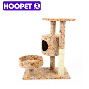 Modern Banana Leaf Cat Tree and Sisal Cat House pictures & photos