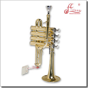 Goden Lacquered Bb Key Piccolo Trumpet/Pocket Trumpet/Mini Trumpet pictures & photos