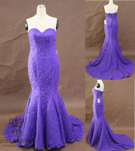 Evening Dress. Full Lace Evening Dress. Mermaid Lace Party Dress pictures & photos
