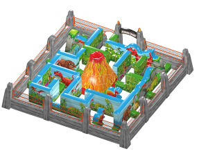 Commercia PVC Dinosaur Inflatable Maze Inflatable Castle Maze Chob002 pictures & photos