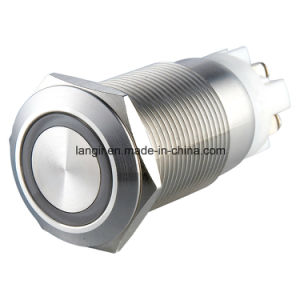 Momentay Ring Illuminated Metal Push Button Switch (16mm, 19mm, 22mm, 25mm, 30mm) pictures & photos