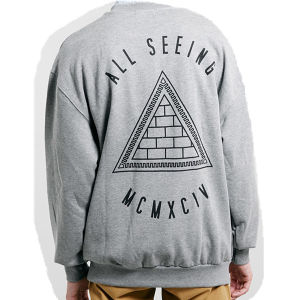 Wholesale Fashion Oversized Men Pullover Sweatshirt with Silk Print pictures & photos