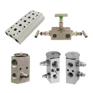 CNC Machining Pneumatic Valve Block pictures & photos