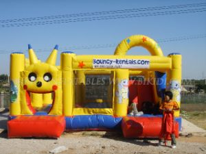 Hot Sale Commercial Cheap Inflatable Bouncer, Jumping Bouncy Castle with Slide pictures & photos
