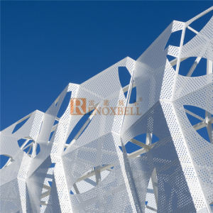 Perforated Aluminum Panel with Leaf Engraved Pattern pictures & photos