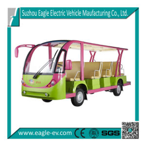 Sightseeing Vehicle, 14 Passenger, Customized Color, Optional Solar Panel, Power Steering, Hydraulic Brake pictures & photos