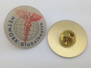 Square Brass Epoxy-Dripping Lapel Pin, Custom Badge (GZHY-YS-006) pictures & photos