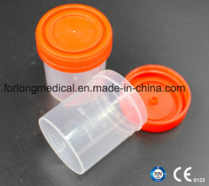 Sputum Cup (screw cap) PP 60ml with Ce, ISO13485 Certification pictures & photos
