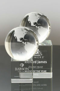 Clear Frosted Crystal Globe Award (#3435, #3536) pictures & photos