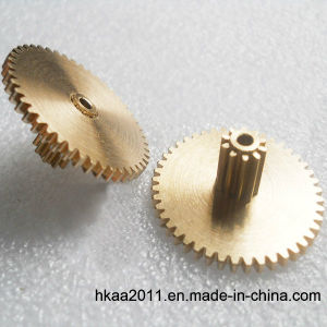 Small Brass Gear, Brass Pinion Gear, Double Spur Gear pictures & photos