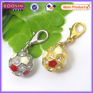 Crystal Silver or Golden Plated Charms Soccer Wholesale #14876 pictures & photos