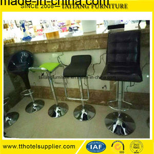 Low Back Metal Leather Bar Stool China pictures & photos