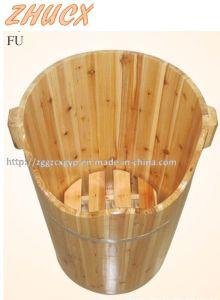 Round Wooden Foot Tub Foot Bath Barrel Wooden Barrel pictures & photos