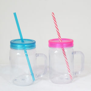 100% BPA Free Eco-Friendly 570ml Drink Bottle Plastic Mason Jar pictures & photos