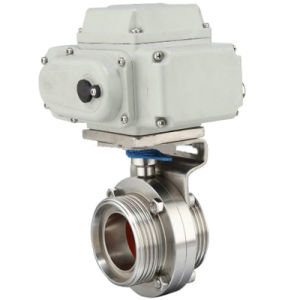 Male Thread Butterfly Valves with Electric Actuator Head pictures & photos