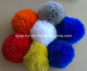 Factory Wholesale Multicolor 100% Real Rabbit Fur POM Poms for Decoration pictures & photos