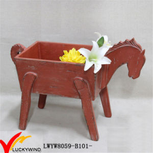 Decorative Garden Planter in Horse Shape with Christmas Taste pictures & photos