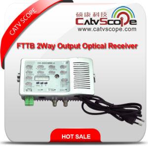 High Level 2 Way Output CATV FTTB Optical Receiver pictures & photos