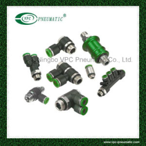 Union Elbow Male Pneumatic Hose Fittings Push in Fitting pictures & photos