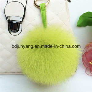 Premium Quality Real Fox Fur Ball Keychain pictures & photos
