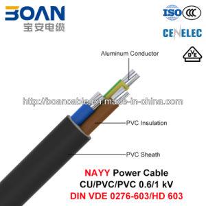 Nayy, LV Power Cable, 0.6/1 Kv, Al/PVC/PVC (DIN VDE 0276-603/HD 603) pictures & photos