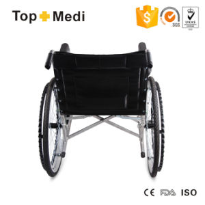 Topmedi Medical Equipment Cheap Price Powder Coating Steel Wheelchair pictures & photos