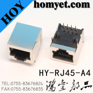 High Quality RJ45 Female Connector/RJ45 PCB Connector for Computer (HY-FJ45-A4) pictures & photos