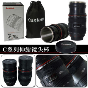 Hot Sale 400ml Cheap Coffee Mugs Camera Lens Travel Mug for Sale pictures & photos