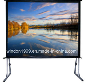 Fast Fold Projection Screen / Portable Projector Screen with Flight Case pictures & photos