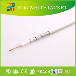 305m Wooden Drum 75 Ohm RG6 Standard Coaxial Cable for TV System pictures & photos