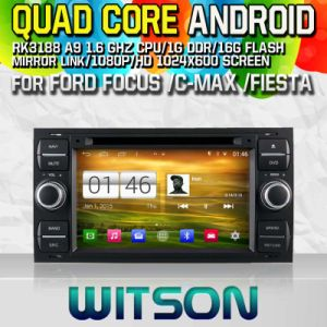 Witson S160 Car DVD GPS Player for Ford Focus/C-Max/Fiesta with Rk3188 Quad Core HD 1024X600 Screen 16GB Flash 1080P WiFi 3G Front DVR DVB-T Mirror-Link(W2-M140 pictures & photos